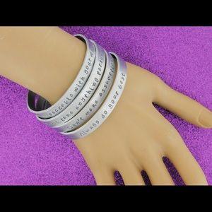 Jewelry - 4 Stackable Inspirational Bracelets Set